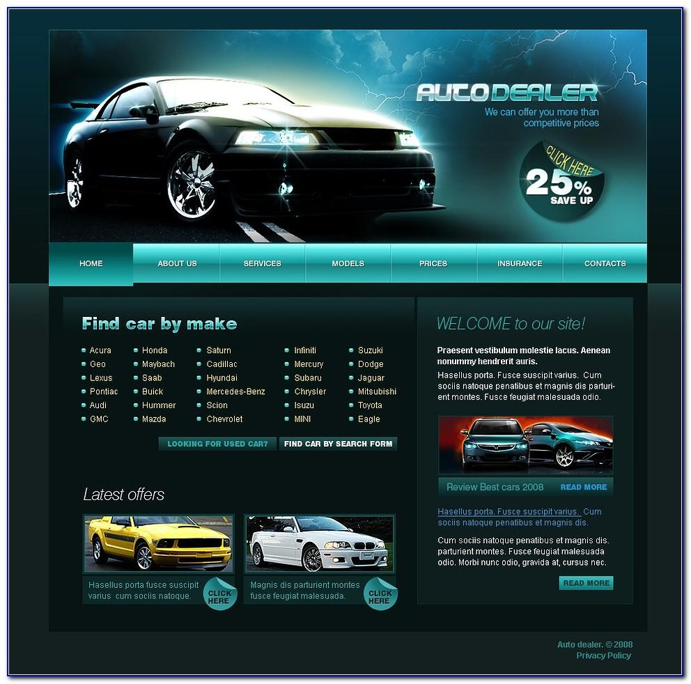 Car Dealer Website Template Uk