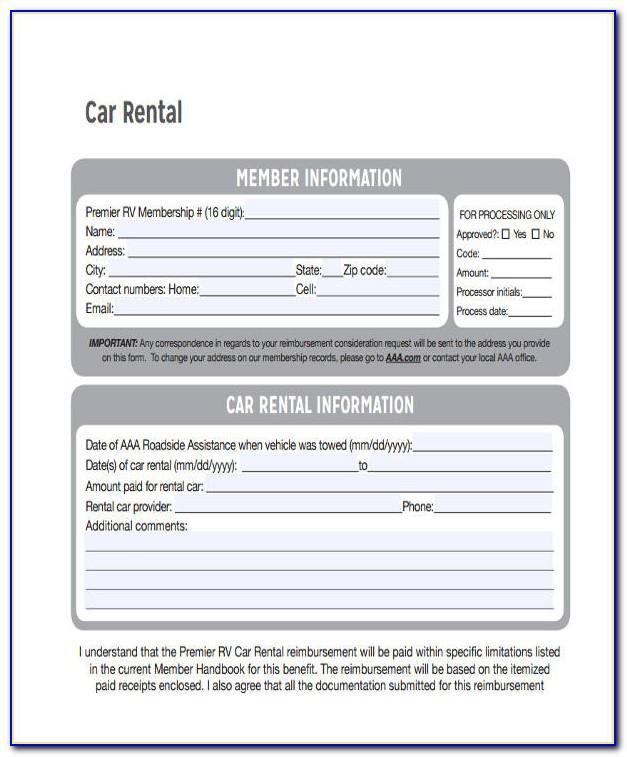 Car Rental Receipt Template Word