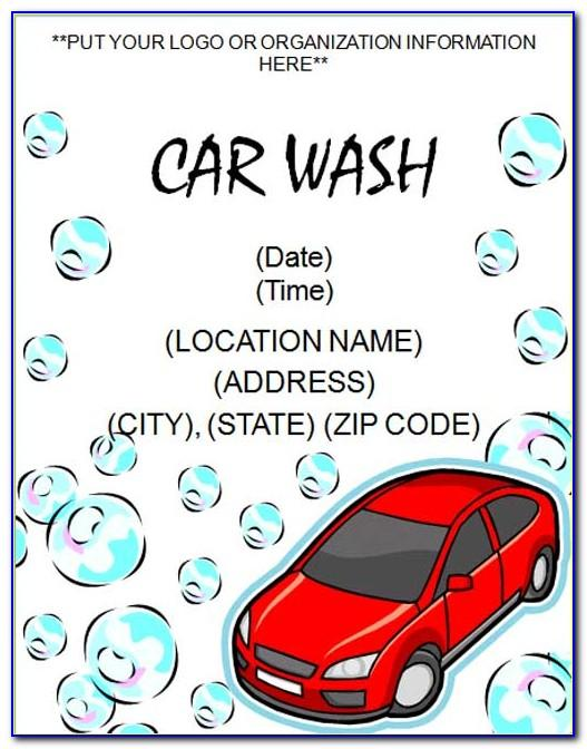 Car Wash Flyer Template Free Download