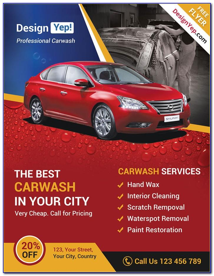 Car Wash Flyer Template Psd Free