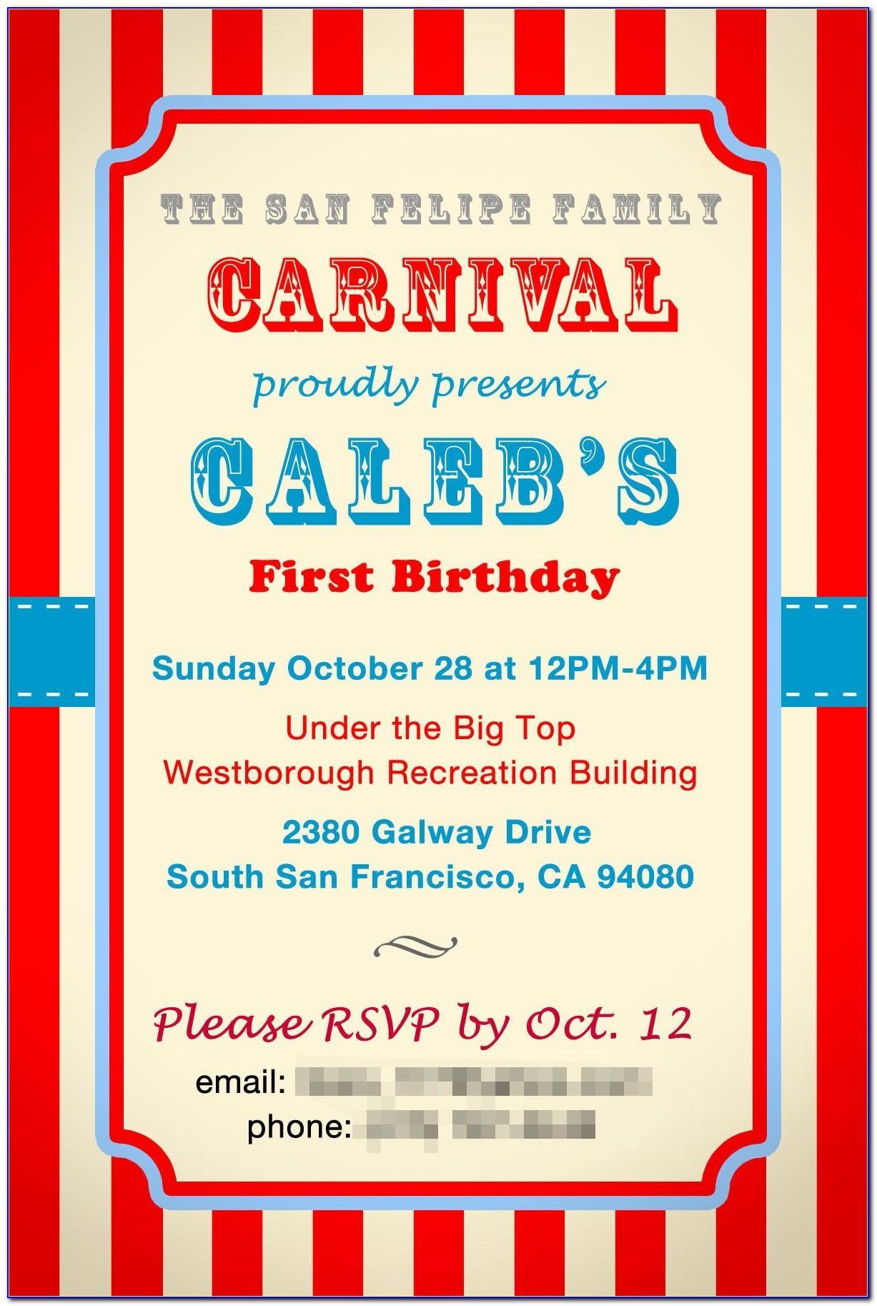 Carnival Invitation Templates