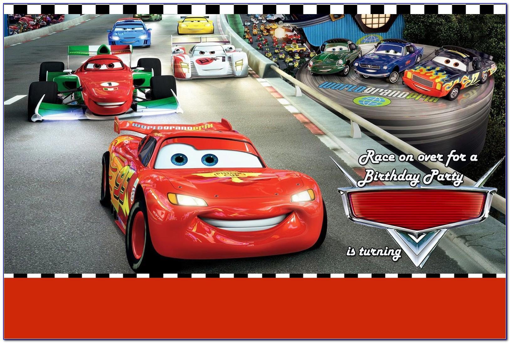 Cars Invitation Template Hd