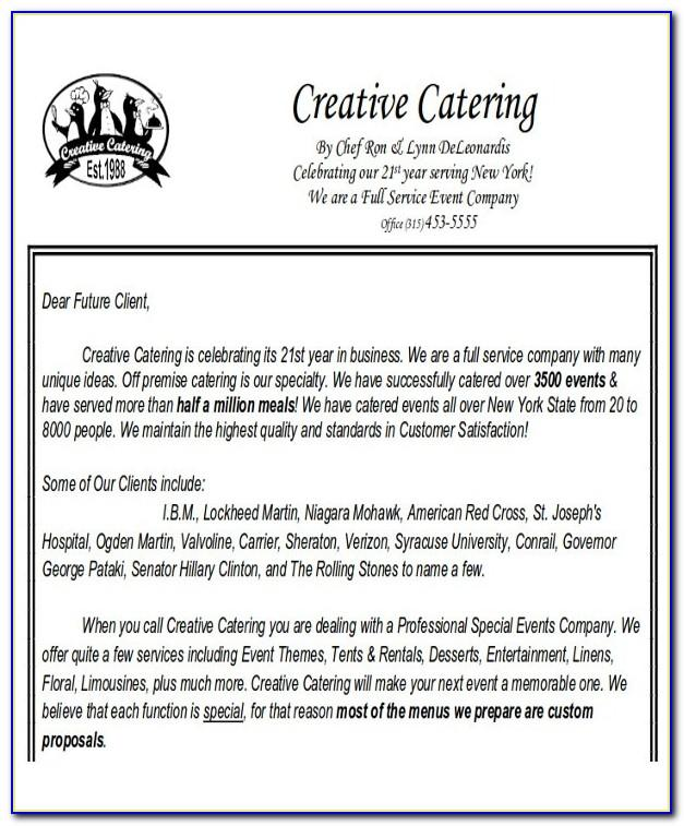 Catering Proposal Sample