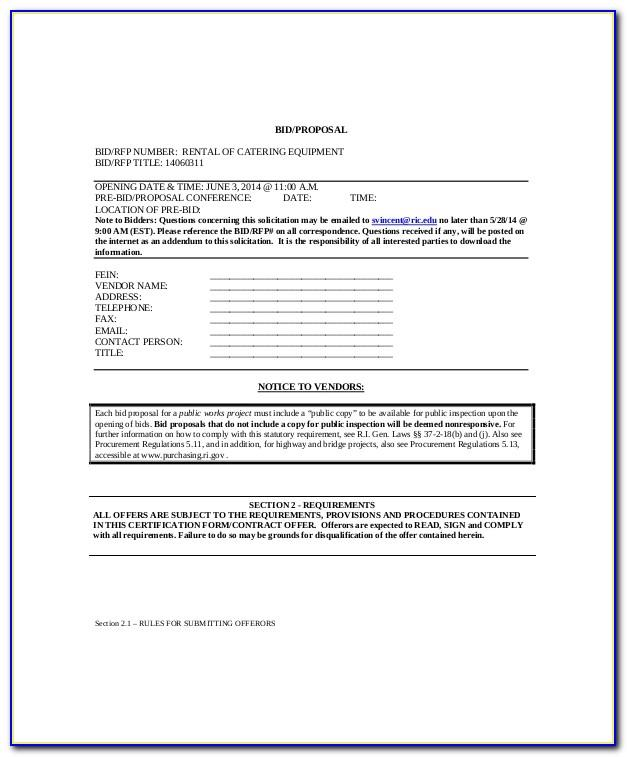 Catering Proposal Templates
