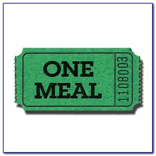 Chicken Dinner Ticket Template