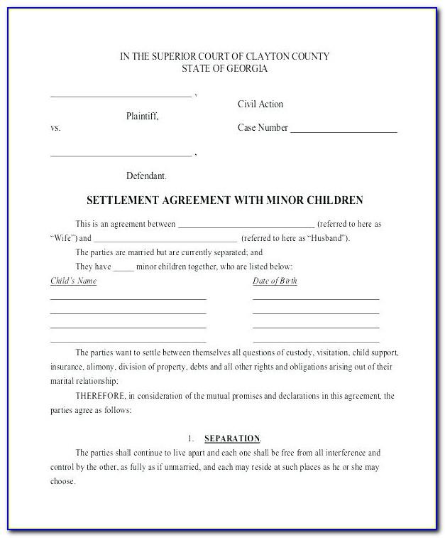 Child Custody Visitation Agreement Template