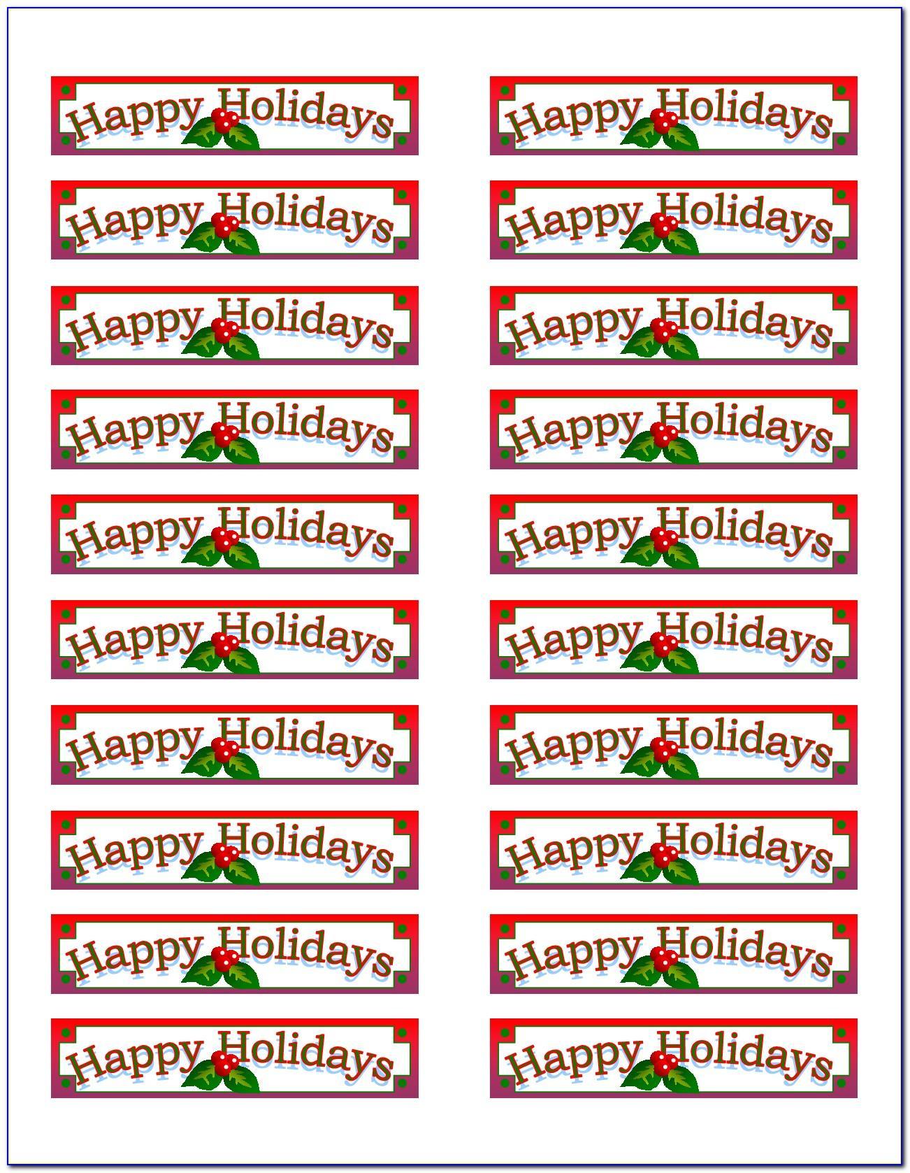Christmas Card Return Address Label Template