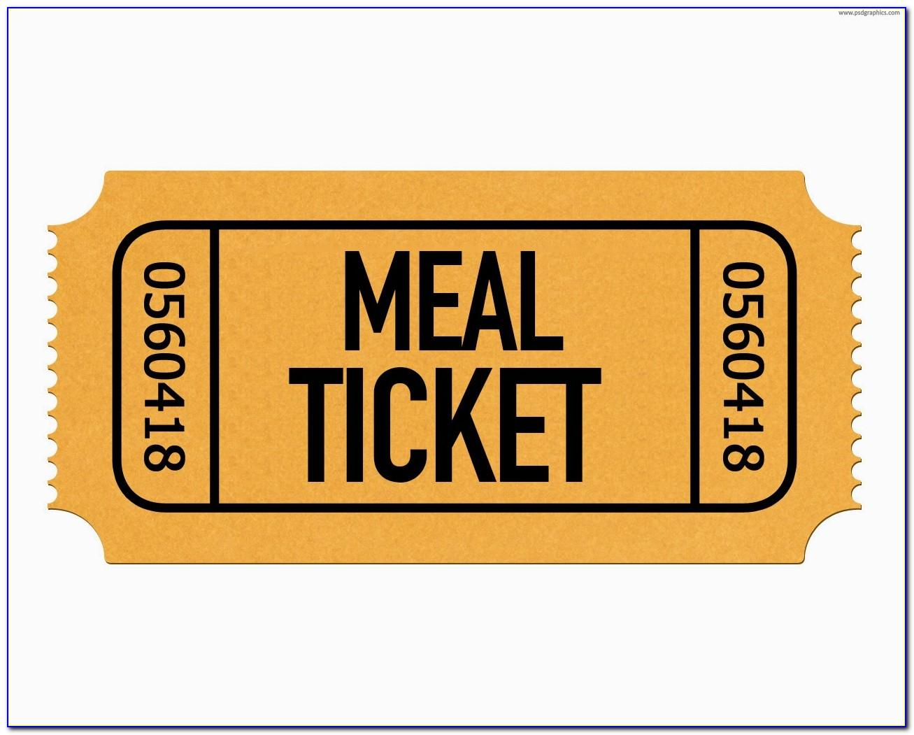 Christmas Dinner Ticket Templates Free