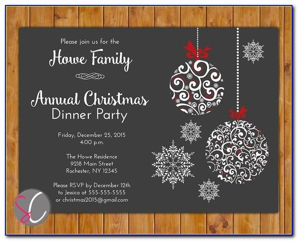 Christmas Holiday Invitation Templates Free