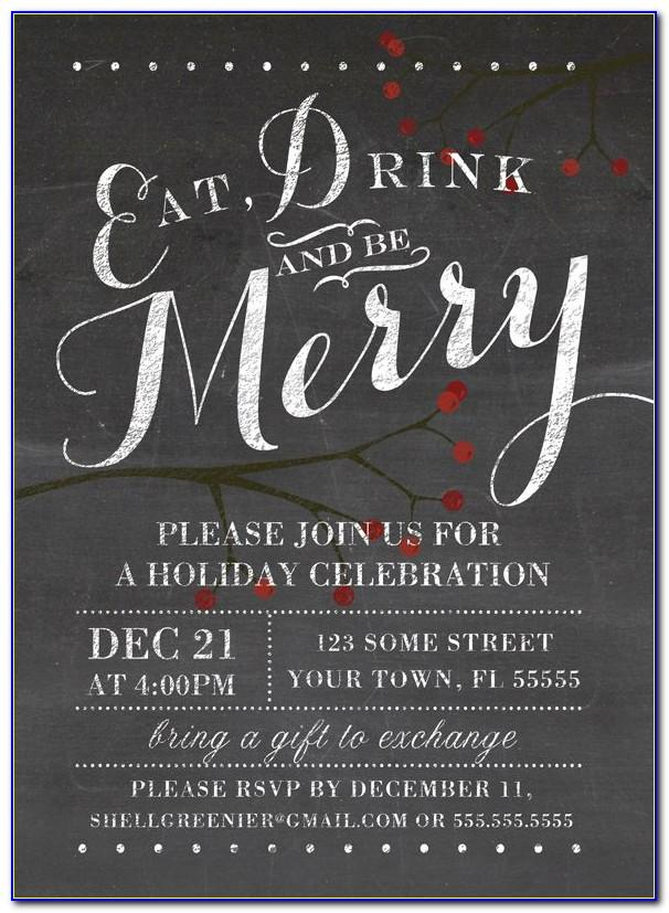 Christmas Party Flyer Template Word