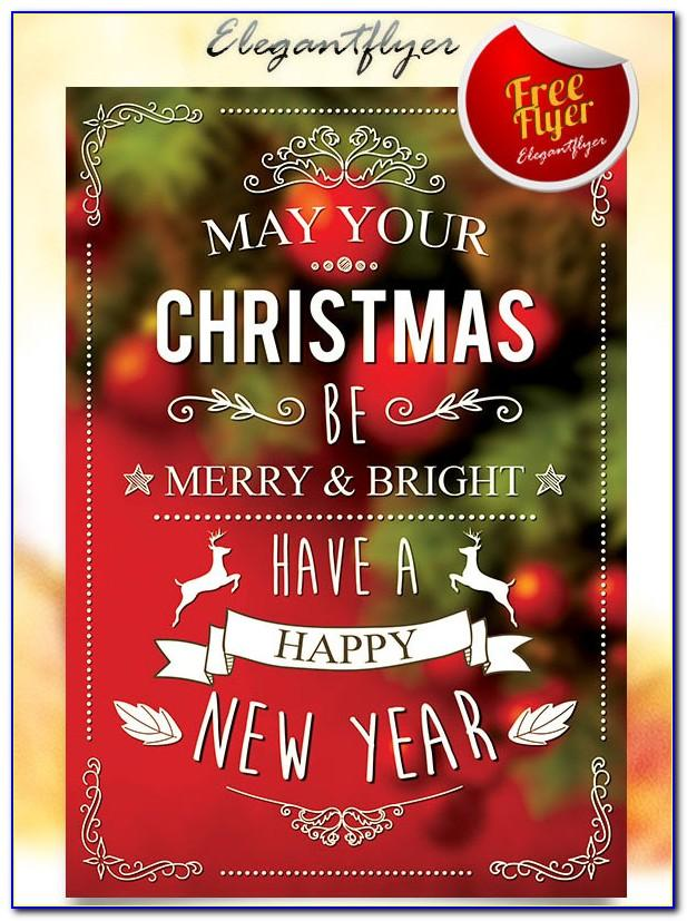 Christmas Party Flyer Templates Free Word