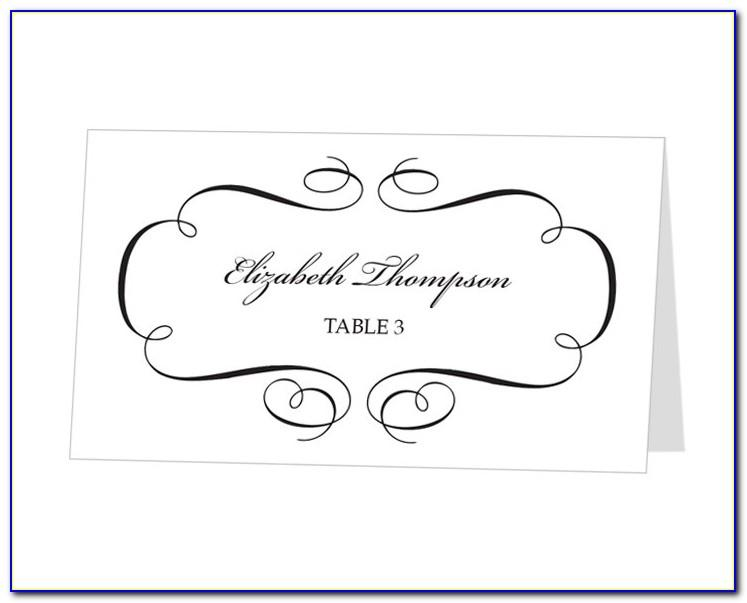 Christmas Party Place Cards Template