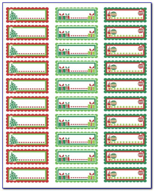 Christmas Return Address Labels Microsoft Word