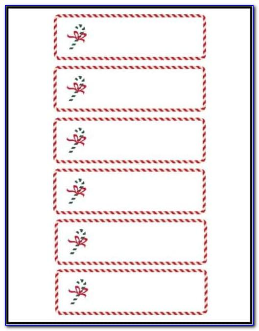 Christmas Table Place Cards Template