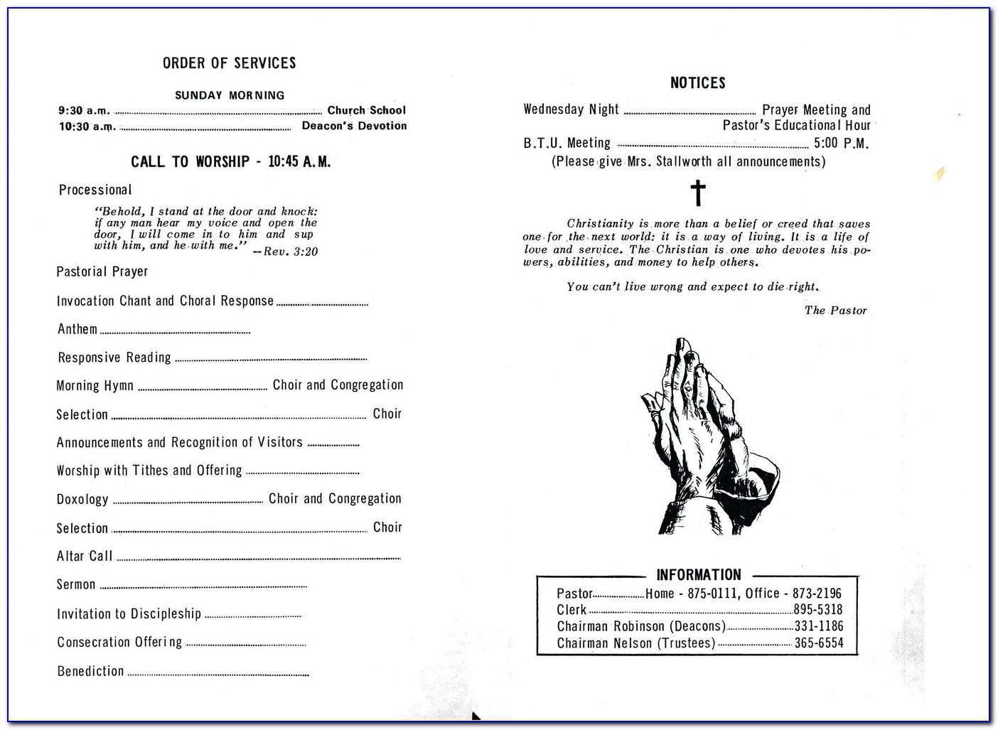 Church Anniversary Program Booklet Template