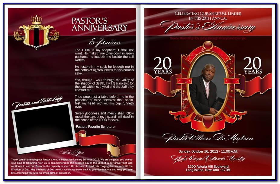 Church Anniversary Program Samples