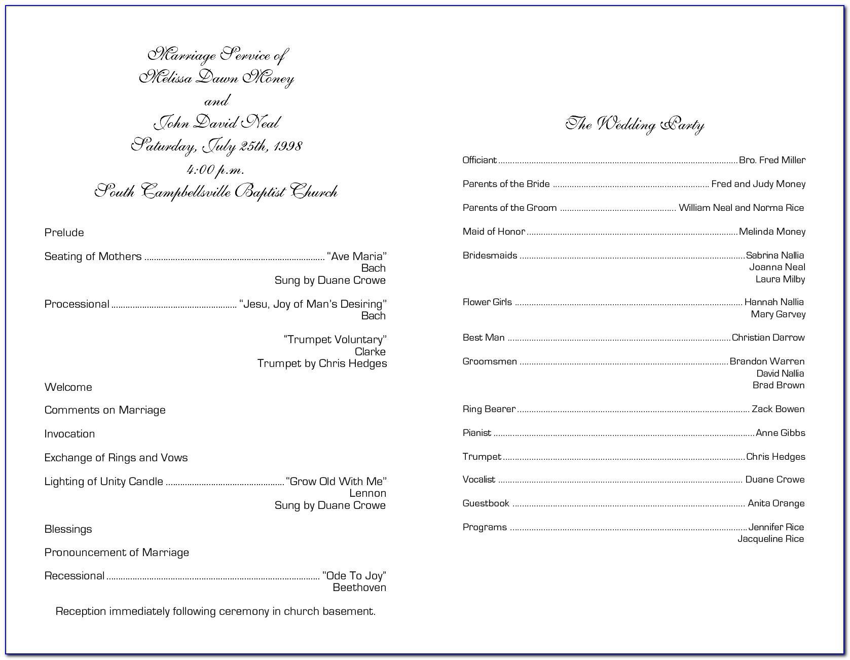 Church Choir Anniversary Program Template