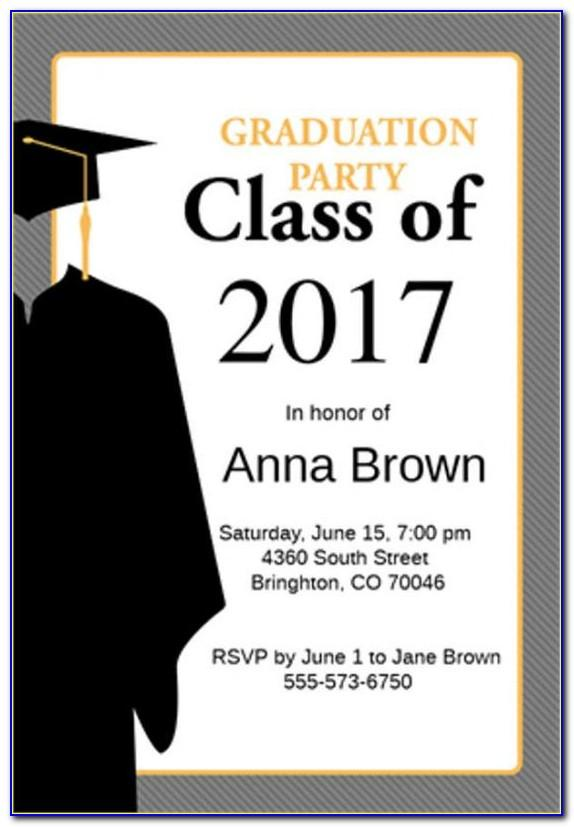 College Graduation Announcement Template
