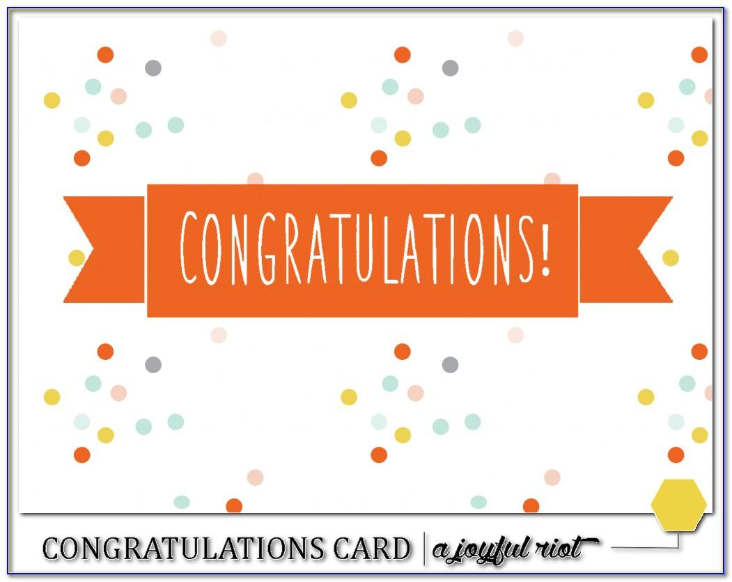 Congratulations Card Template Free