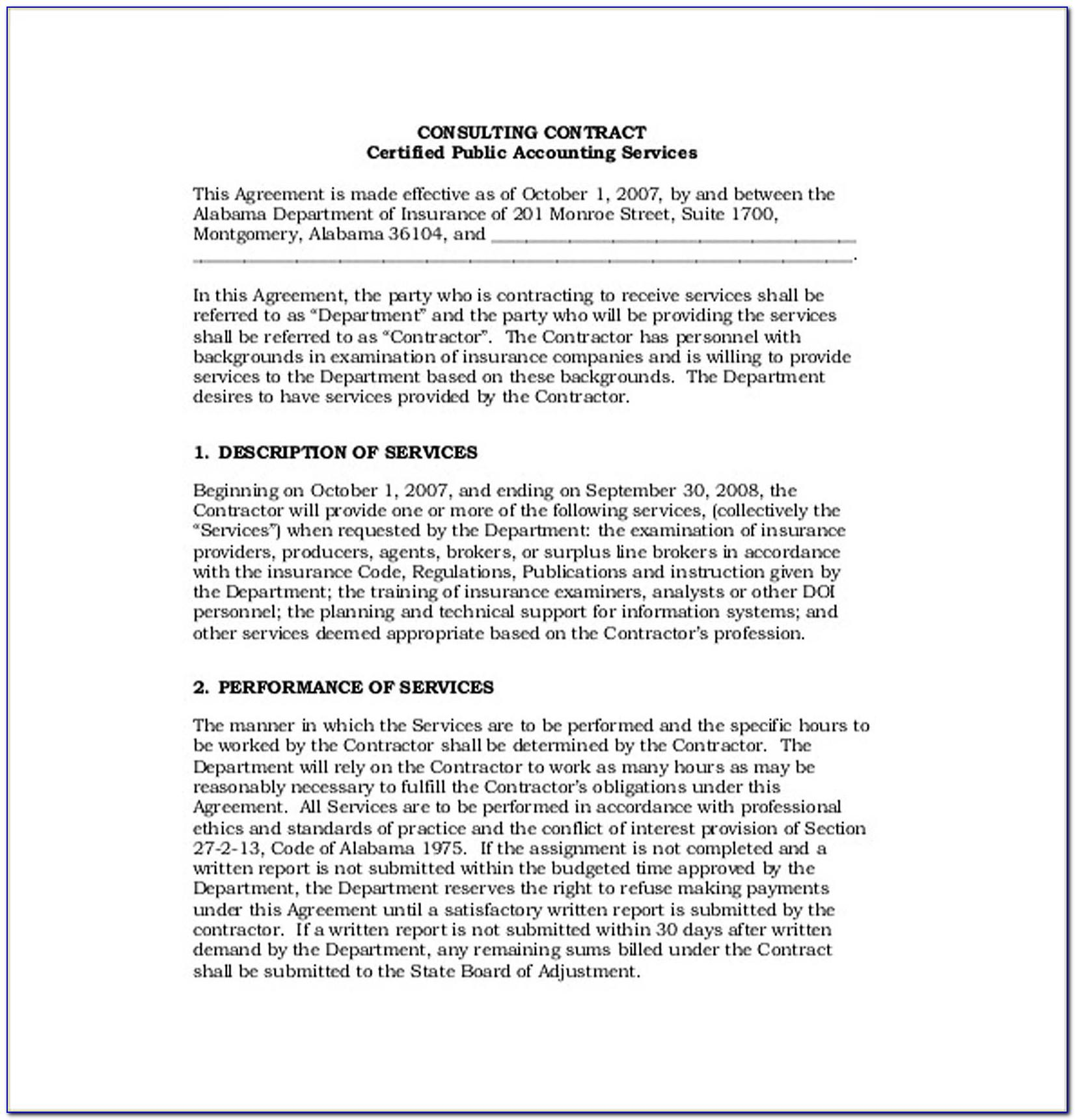 Consultant Agreement Template Pdf