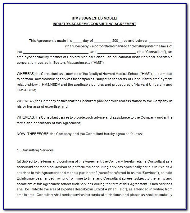 Consulting Agreement Template Free Download
