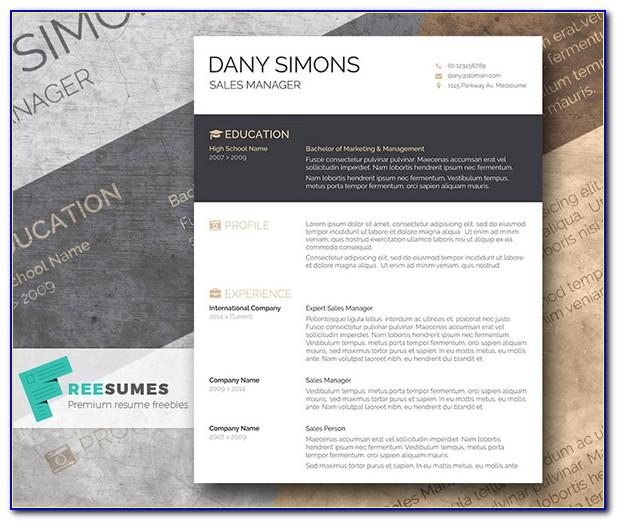Cool Resume Templates Free Word