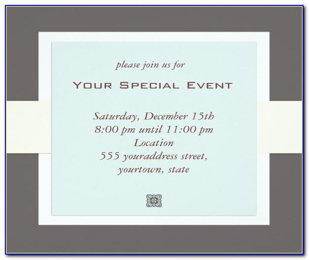 Corporate Event Invitation Template Free
