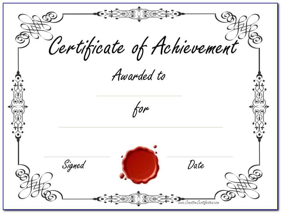 Customizable Certificate Templates For Word
