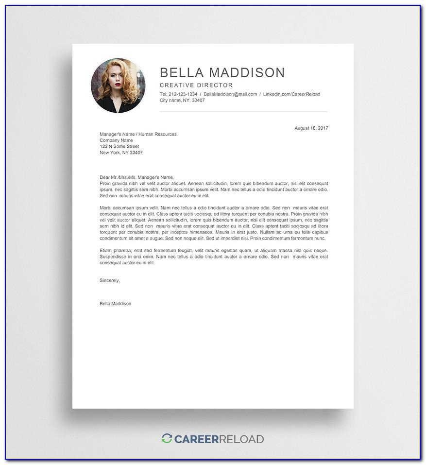 Cv Cover Letter Template Free Download