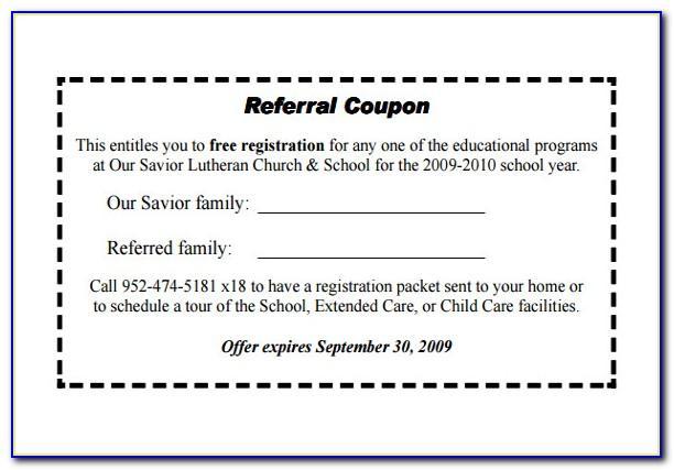 Dental Referral Card Template
