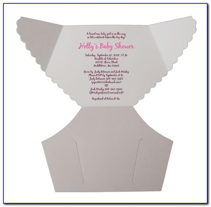 Diaper Baby Shower Invitations Printable