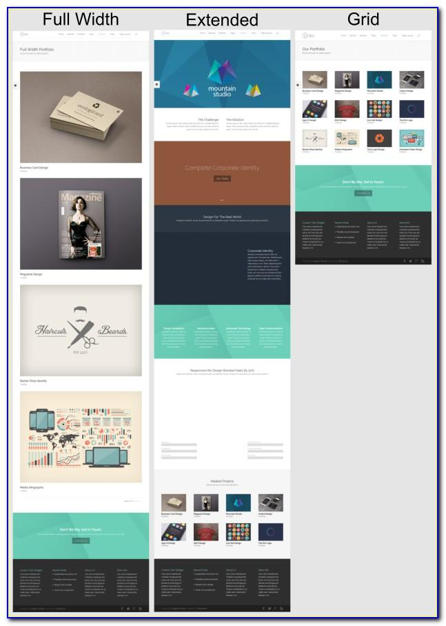 Divi Theme Page Templates