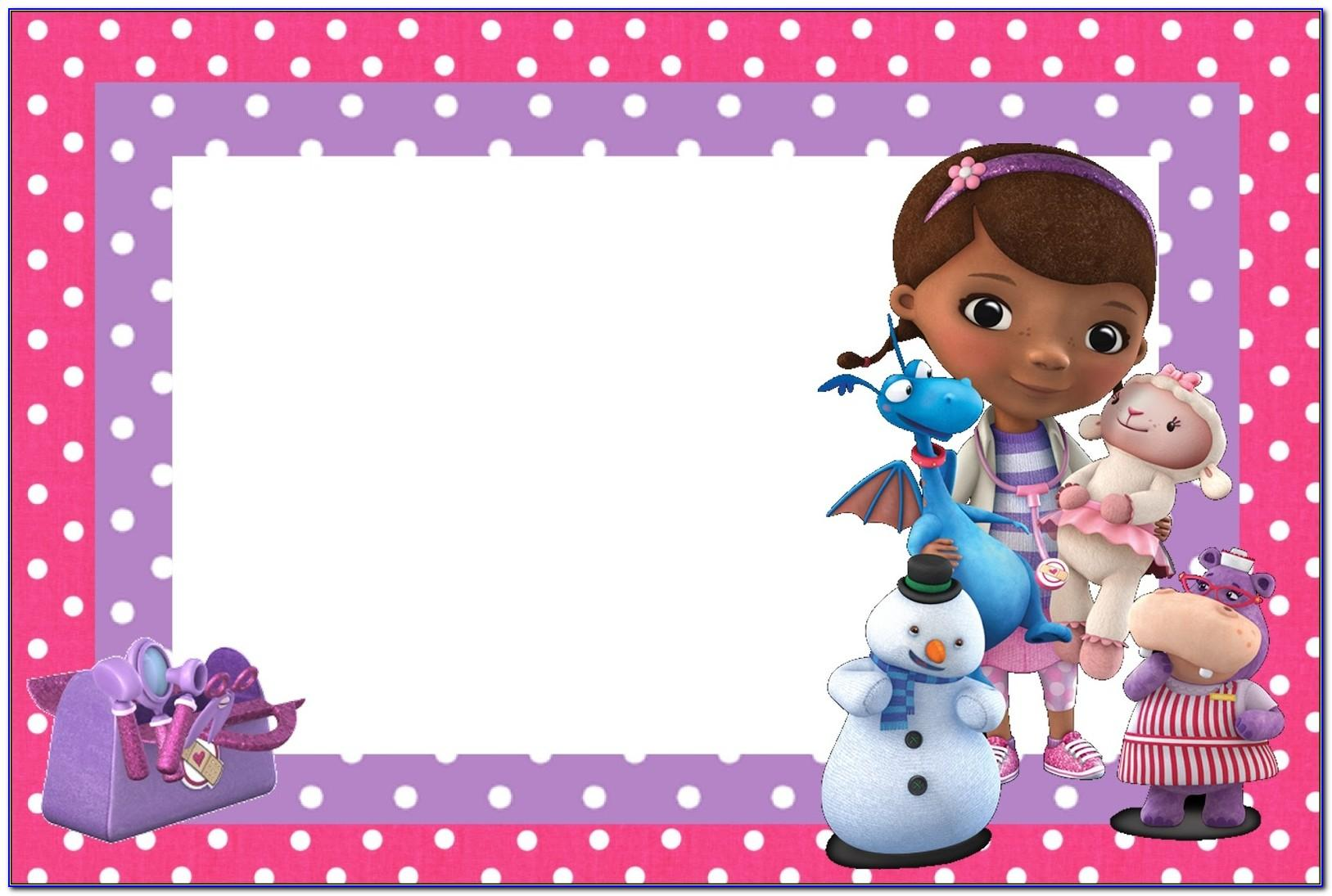 Doc Mcstuffins Party Invitations Template