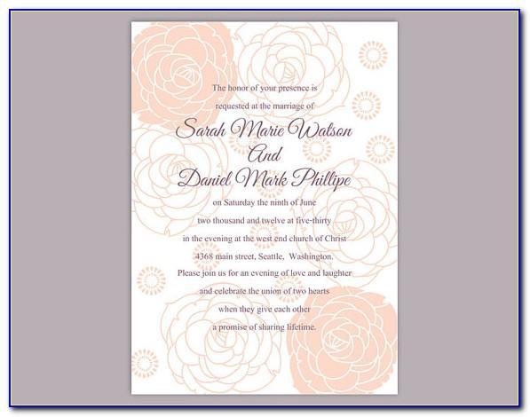 Editable Wedding Invitation Templates Download