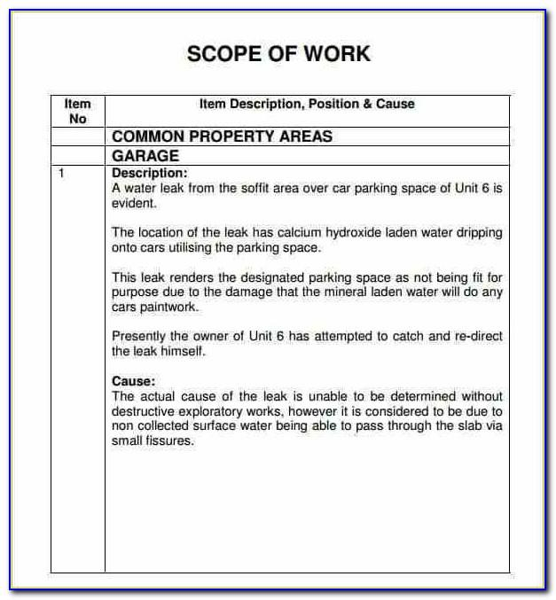 Electrical Contractor Scope Of Work Template