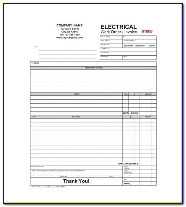 Electrical Invoice Samples