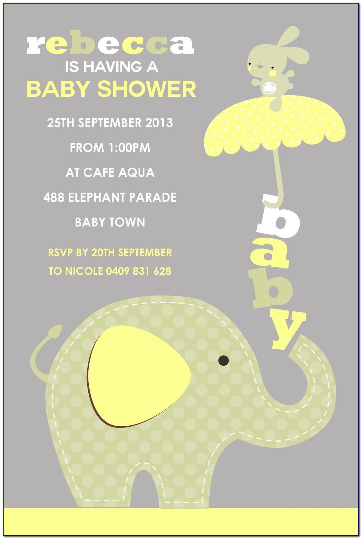 Elephant Baby Shower Invitation Maker