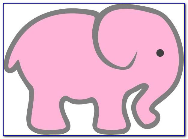 Elephant Themed Baby Shower Template