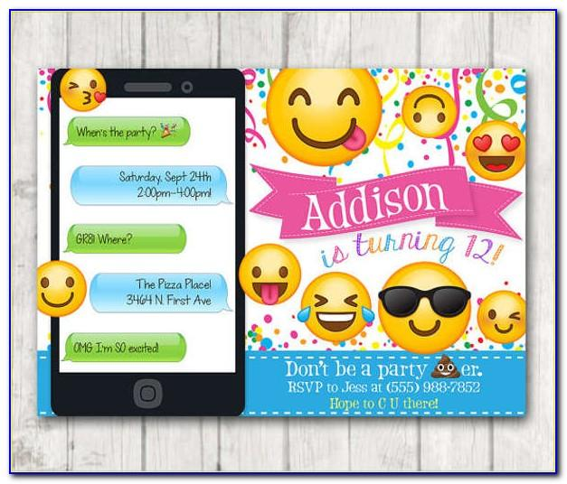 Emoji Birthday Invite Template Free Download