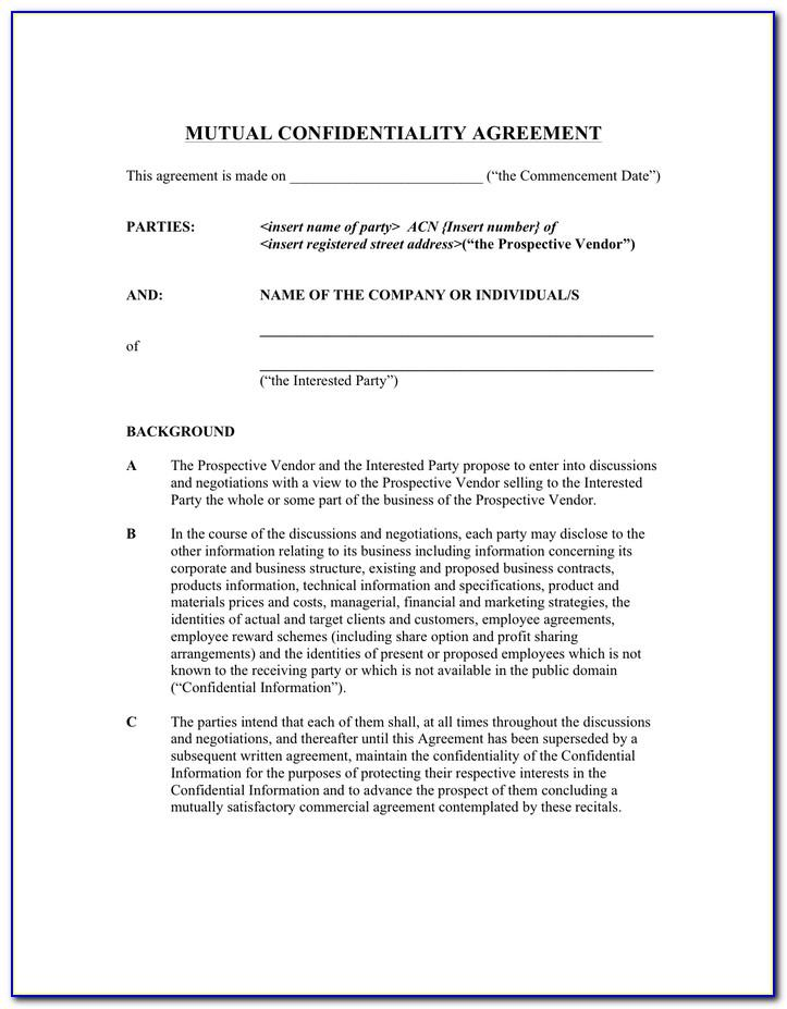 Employee Confidentiality Agreement Template South Africa