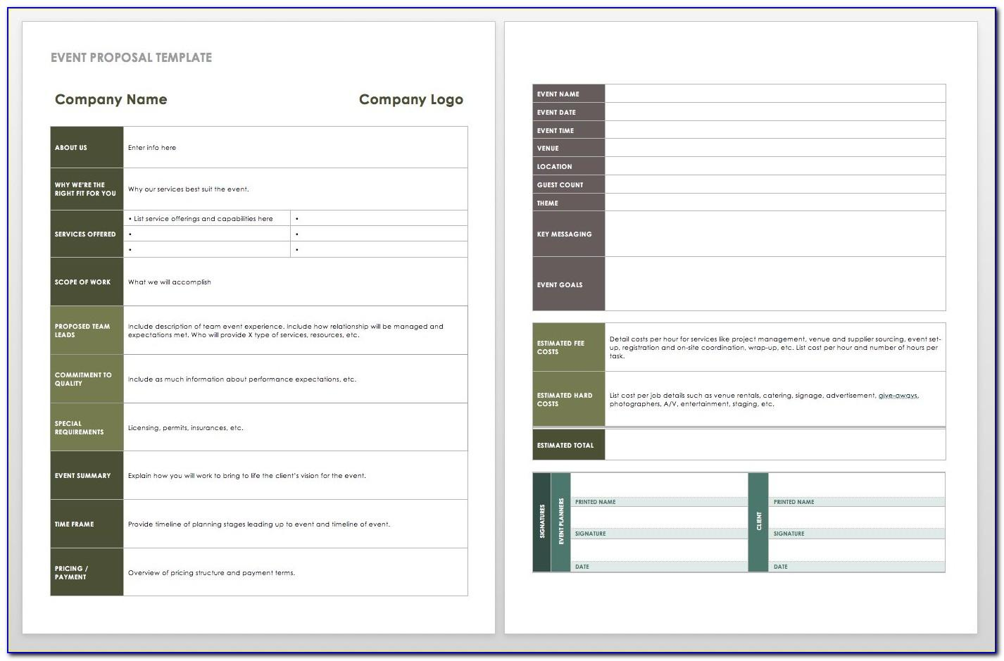 Event Planning Proposal Template Pdf