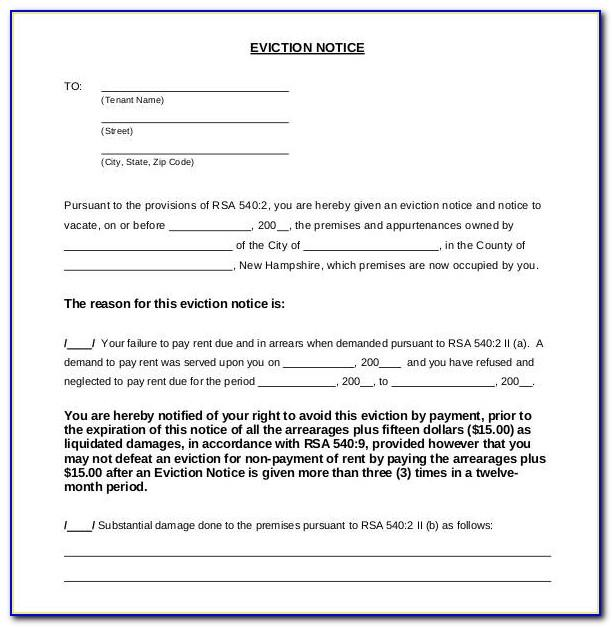 Eviction Notice Template Word Uk
