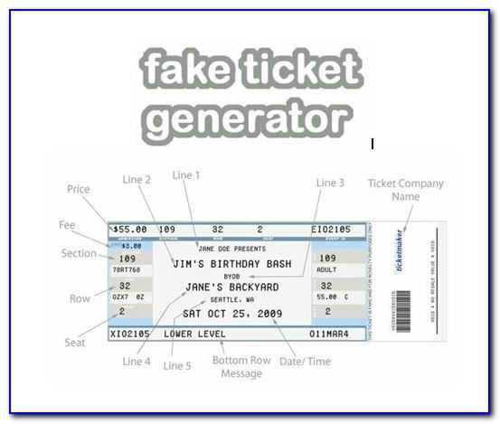 Fake Airline Ticket Template Pdf