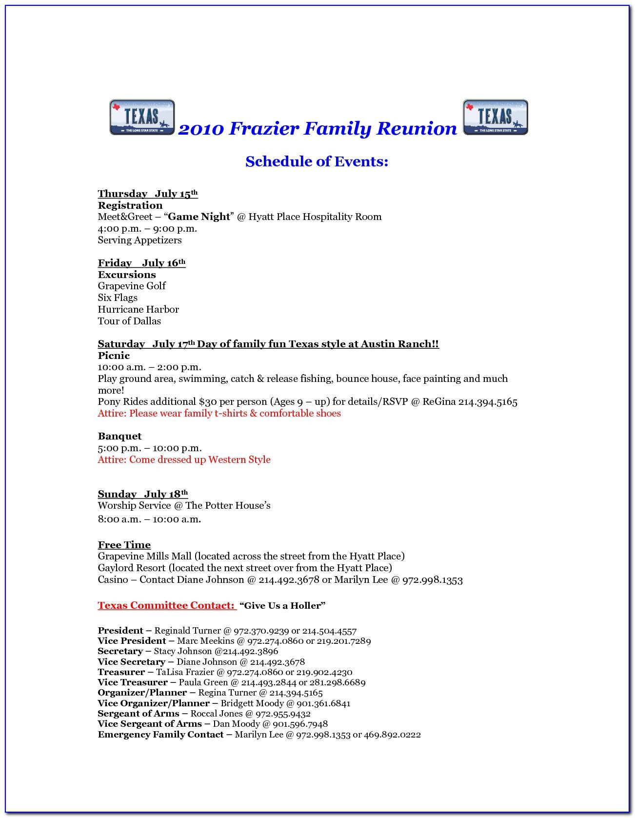 Family Reunion Invitation Letter Sample