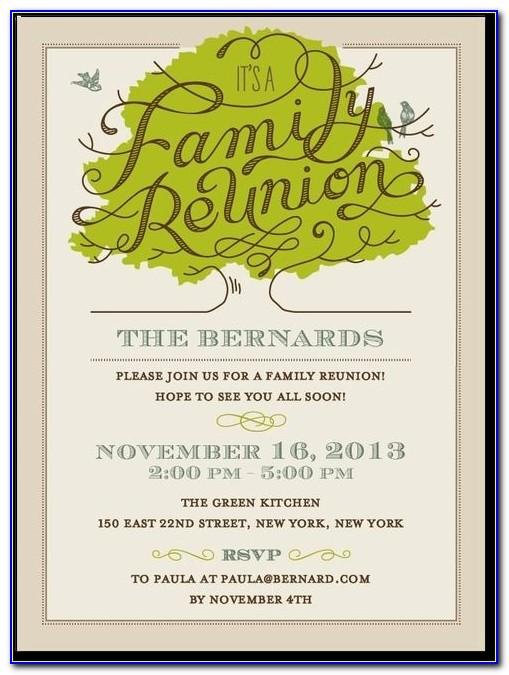 Family Reunion Invitations Free Printable