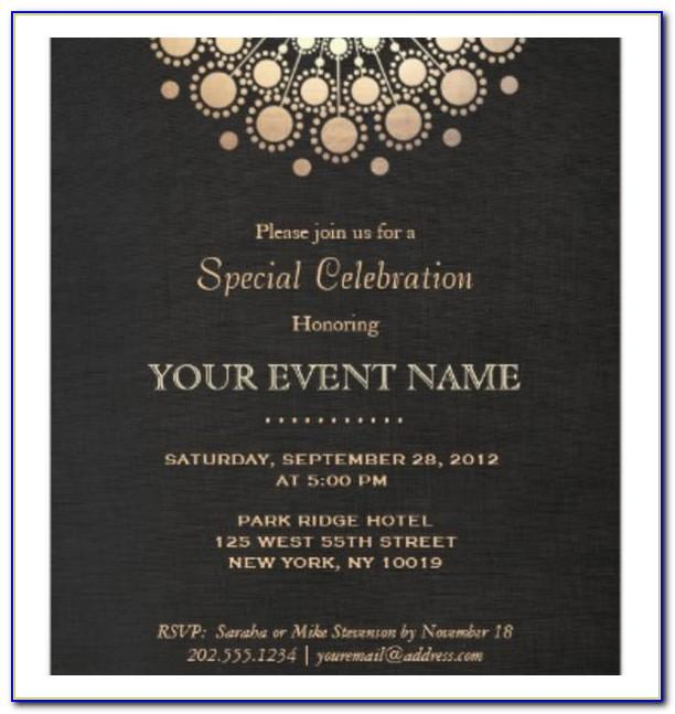 Fancy Party Invitation Template