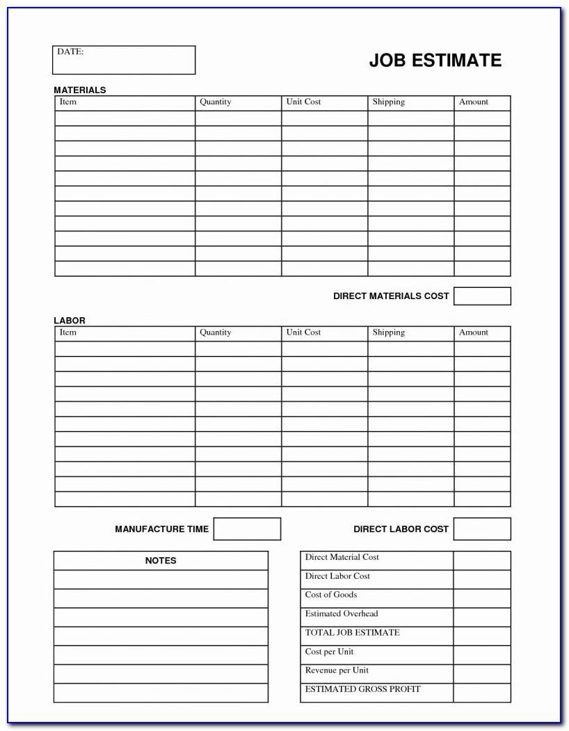 Fence Estimate Template Excel