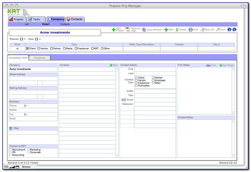 Filemaker Pro Templates Crm