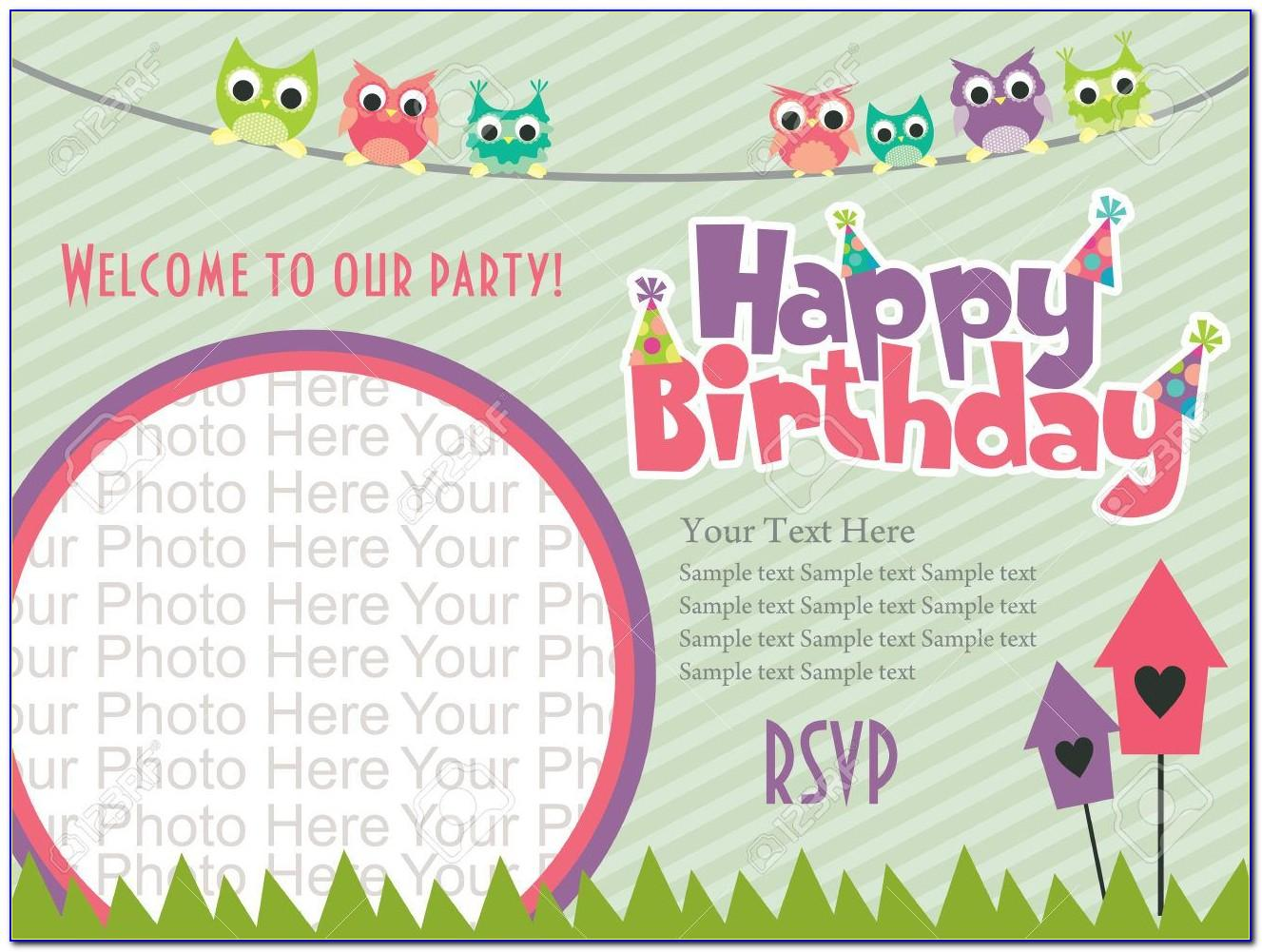 First Birthday Invitation Templates Boy