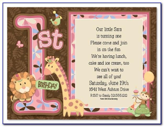 First Birthday Invitation Templates In Hindi